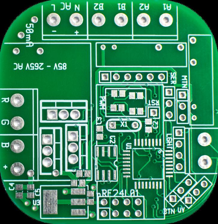PCB modułu dopuszkowego mysensors - inteligentny dom